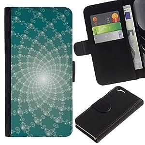 KingStore / Leather Etui en cuir / Apple Iphone 6 / Líneas abstractas florales
