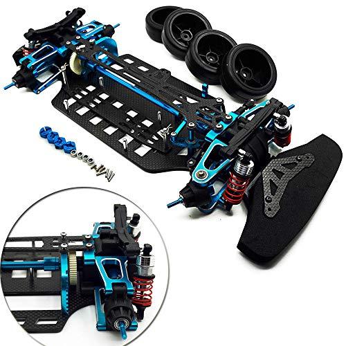 Benedict Harry Alloy & Carbon Shaft Drive 1/10 RC 4WD Touring Car Frame Kit for TT01 TT01E Blue ()