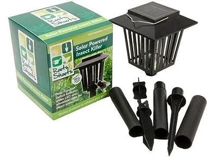 Outdoor Garden UV Ultraviolet Light Lantern Fly /& Insect Killer Kabalo Solar Powered Mosquito