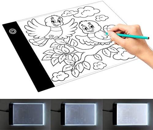 グラフィック描画タブレット 明るさ調A5アクリルUSBコピーボードのアニメスケッチスケッチブックのMRTU 2.2W 5V LED三つのレベル