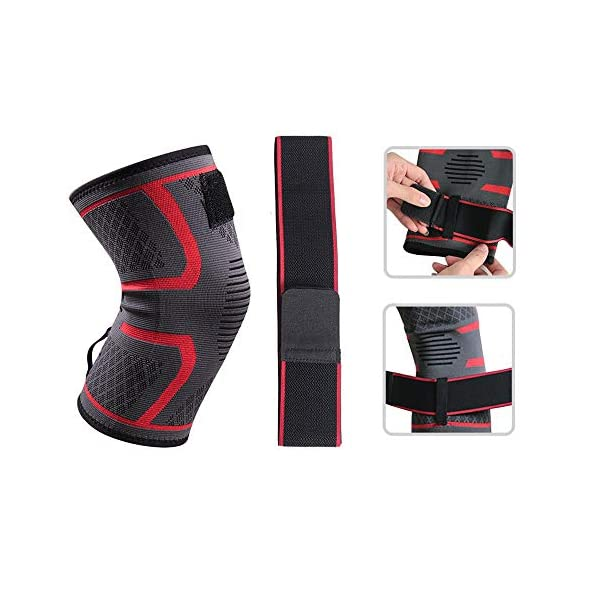 NEC 1Pcs Sports Kinesiology Tape Knee Brace Support Knee Protector Pad Breathable Bandage Basketball Tennis Cycling… 5 spesavip