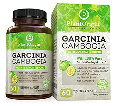 Garcinia Cambogia 95 HCA - Highest Potency Available - 1500MG - 60 Vegetarian Capsules