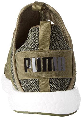 Puma Heren Mega Nrgy Gebreide Outdoorschoenen 190371 02 Olijf / Zwart
