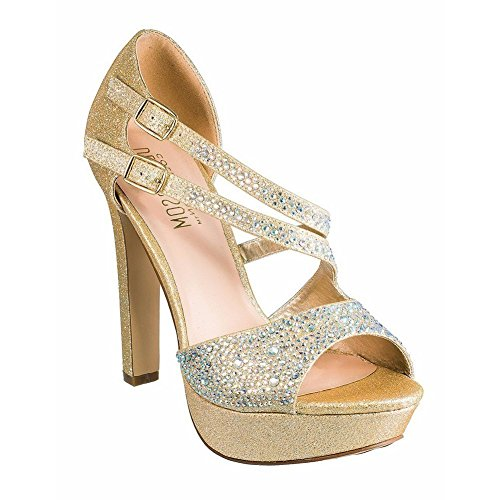 De Blossom Collection Adult Nude Pearl Suede Crystal Pumps 5.5-10 Womens JZqgL