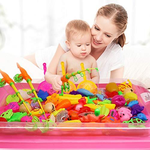 bromrefulgenc Beach Toys Set for Kids,Beach Pail Set,Fishing Toy Set,22Pcs Fishing Tools Set Baby Bath Parent-Child Interaction Puzzle Toy