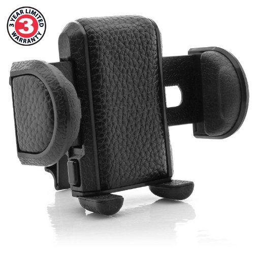 Works With Samsung Galaxy Apple iPhone and Many More Smartphones GEAR-VENTMOUNT Motorola DROID Car Mount Air Vent Phone Holder Cradle by USA Gear with Adjustable Display /& 360 Degree Rotation