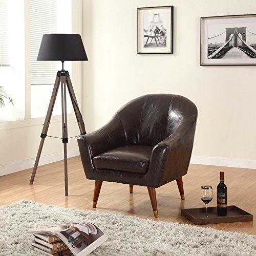 Divano Roma Furniture – Mid Century Modern Chair – Bonded Leather