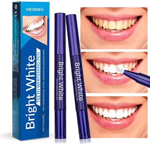 Neomen Teeth Whitening Pen (2 Pack) - 35% Carbamide Peroxide Gel, Safe and Effective for Teeth Whitening, Travel-Friendly, Easy to Use, Natural Mint Flavor