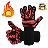 BBQ Gloves Extreme Heat Resistant, Tvird Oven Gloves BBQ Grilling Gloves 932°F/500° C Extreme Heat Resistant Oven Gloves, Forearm Protector For BBQ, Cooking, Grilling, Baking