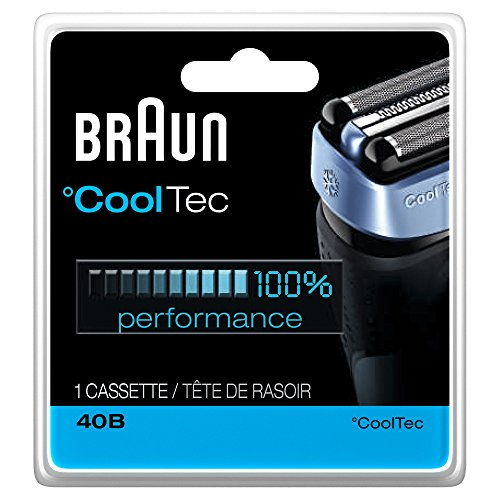 Braun 40B CoolTec Shavers Series Replacement Shaving Foil Head and Cutter Cartridge, 1 Count (Braun Razor Battery compare prices)
