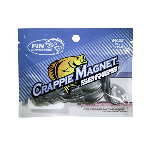 Fin Commander Slab Curly 12pc Pack Slab Curly 12Piece Curly Tail Jig Pack, Tennesse Shad (Curl Tail Jig)