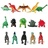 Fun Central AU078 72ct 2 to 3 Inch Mini Vinyl Dinosaur Toys, Dinosaur Toys, Fun Toys, Animal Figures, Party Supplies for Kids, Dinosaurs Toys, Dinosaur Toys For Kids, Plastic Dinosaurs - Assorted