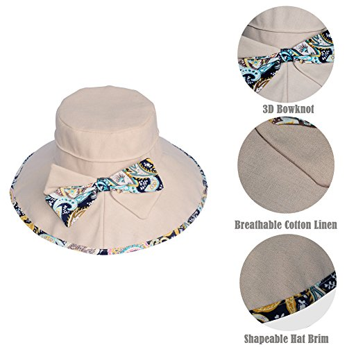 7a42b0f02cc Women Wide Brim Sun Hat Summer Outdoor Foldable Beach Cap - Import It All