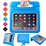 BMOUO Apple iPad 2 3 4 Kids Case - ShockProof Convertible Handle Light Weight Protective Stand Kids Case for iPad 4, iPad 3 and iPad 2 - Blu