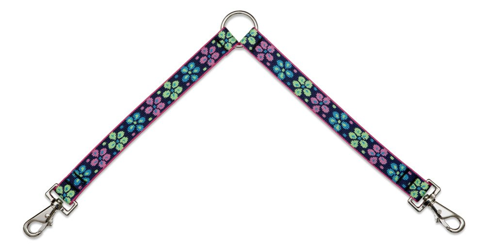 Flower Power Lupine Coupler for Larger Dogs, 1-Inch Wide by 24-Inch Long, Flower Power