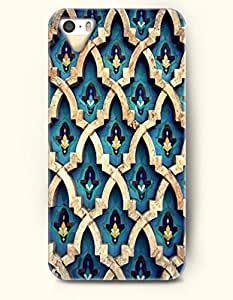 SevenArc Apple iPhone 4 4S Case Moroccan Pattern ( Blue arabesque Wall )