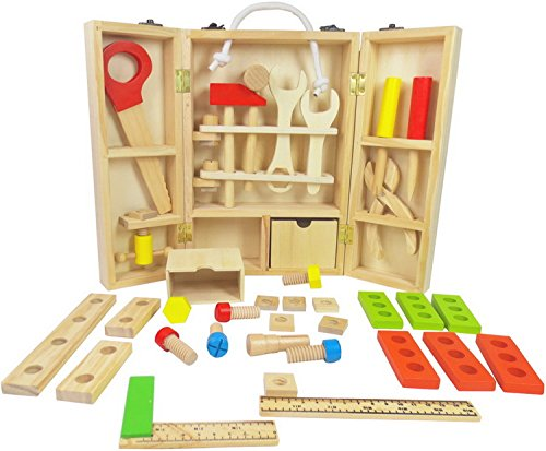 Toy Tool Kits For Girls : Natural wooden toys for children tool box