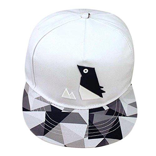 PB PEGGYBUY Hip-hop - Gorro de béisbol unisex para hombre y mujer, ajustable, color blanco