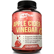 Pure Apple Cider Vinegar Pills Extra Strength 625MG (120 VEGETABLE CAPSULES), Tested & Proven Results or Money Back - All Natural Non GMO Cider Capsules Supplement for Weight Loss, Detox & Digestion