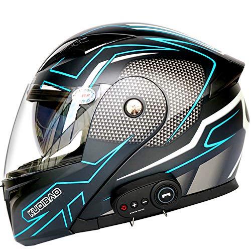SHXP Bluetooth-integrierte Motorradhelme volles Gesicht modular mit Zwei Visieren Motorcross-Helme eingebaut