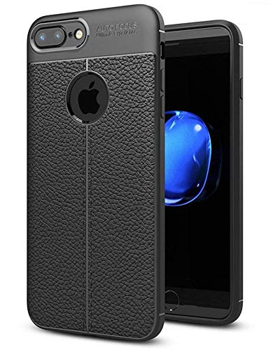 JOTECH Soft Back Cover for iPhone 7 Plus  Rubber,Black