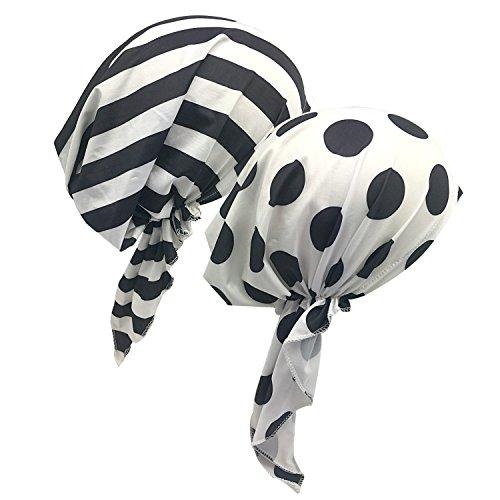 2 Pack Womens Bandana Scarf Pre Tied Chemo Hat Beanie, Turban Headwear for Cancer ()