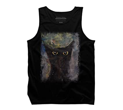 Amazon.com: Design By Humans Ninja Cat Mens Graphic Tank ...