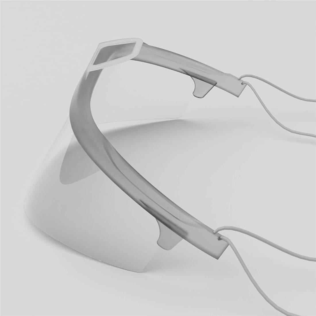 Alittle 10pcs Visera protectora reutilizable en blanco Protecci/ón facial anti-saliva anti-salpicaduras para hombres y mujeres Cubierta facial para boca y nariz