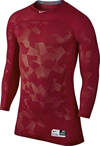 Nike Hypercool 3/4 Sleeve Top Gym Red / University Red / White Talla grande