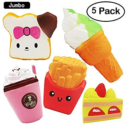 Kawaii Pizza Jumbo Squishies Slow Rising Squeeze Toy Sweet Cake Bread Scented For Squishy Gift For Kids Fun Toy Phone Bag Charm Moderate Price Cellphones & Telecommunications