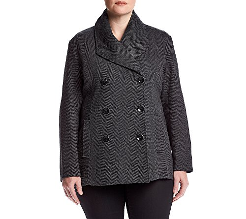 Rampage Plus Size Carrie Peacoat 2X