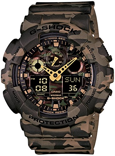 CASIO G SHOCK Camouflage GA 100CM 5AJF Japan