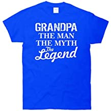 Grandpa The Man Myth Legend T-Shirt Blue 6XL