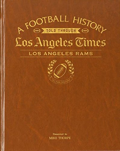 (Los Angeles Rams Personalized Newspaper Book The Los Angeles Times Football History)