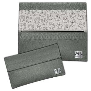 SIMON PIKE Cáscara Funda de móvil NewYork 11 gris elefante Allview X1 Soul Mini Fieltro de lana