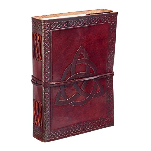 Leather Trade Fair - Paper High Celtic Trinity Knot Leather Journal Notebook Brown