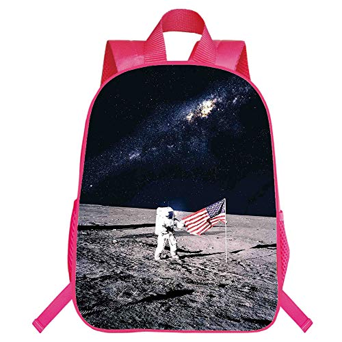Suitable for Primary School Students Red Monolayer Rucksack,