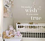 we made a wish and you came true - We Made a Wish & You Came True - Wall Sticker Art Vinyl Mural Different Colours for Home Wall Decal 40*60cm