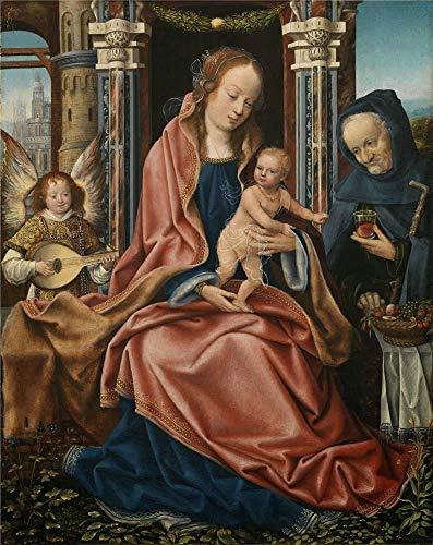 ('Maestro De Francfort Sagrada Familia Con Angel Musico 1510 20 ' Oil Painting, 24 X 30 Inch / 61 X 77 Cm ,printed On Polyster Canvas ,this Amazing Art Decorative)