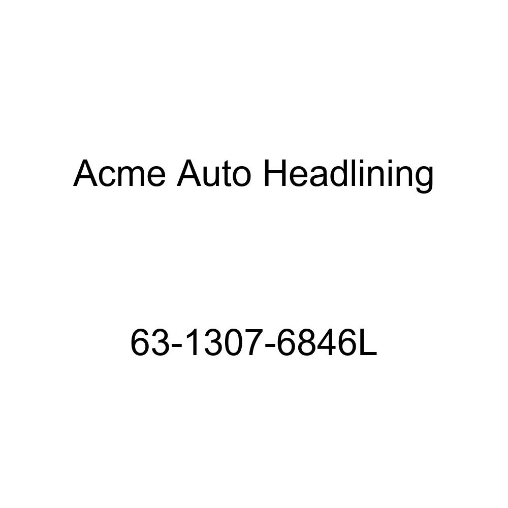 Acme Auto Headlining 63-1307-6846L Green//Gold Replacement Headliner Cadillac DeVille 4 Door Hardtop with Quarter Window 6 Bow
