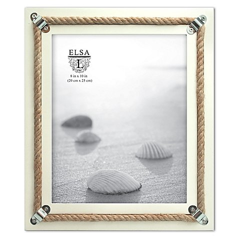 Picture Frame Coastal Rope And Steel Anchors 8-Inch x 10-...