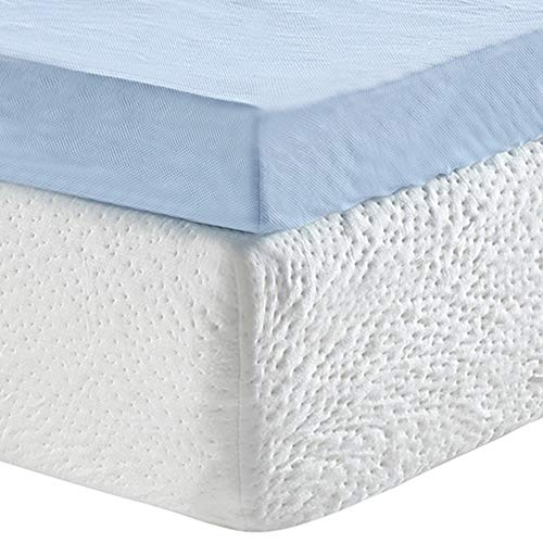 Classic Brands 3-Inch Cool Cloud Gel Memory Foam Mattress Topper With Free Cover, Full