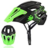 Exclusky Mountain Bike Helmet with Removable Shield Visor - Adjustable Adult Size 22.05-24.01