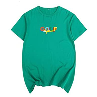 8e485be25af8 Amazon.com  XIYU Golf 3D Wang Tyler The Creator Taylor Men Women Short-Sleeved  T-Shirt  Clothing