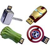 The Avengers USB 8GB Flash Drive Set Of 4