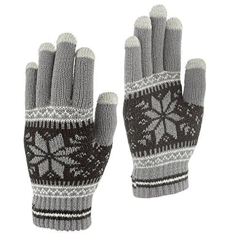 Touchscreen Texting Gloves - Outdoor Mens/Womens Warm Knit Winter Gloves