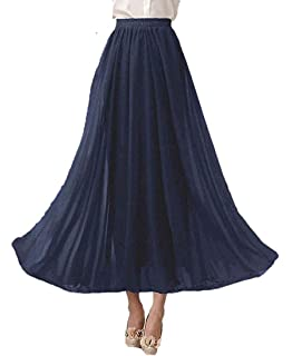 Crazy Girls Womens Pleated Fold Over High Waist Gypsy Long Maxi Skirt UK 8-22