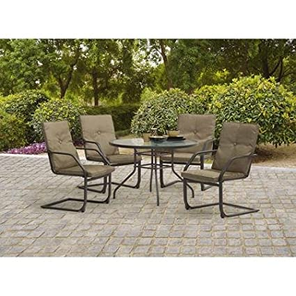 Amazoncom Mainstays Spring Creek 5Piece Patio Dining Set Seats 4