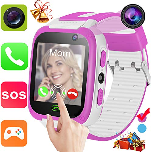 Kids Smart Watch Phone for 3-12 Ages Girls Boys Toddlers with 1.44'' HD Touch Screen 2 Way Call Camera SOS Clock Game Flashlight Wristband Cellphone Watch Electronic Learning Toys Birthday Gifts