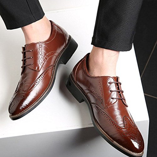 On Scarpe Uomo snfgoij Slip Dimensioni da Uomo Uomo Lace di up Brown per Scarpe Grandi da Brogue xAHHdwBq4X